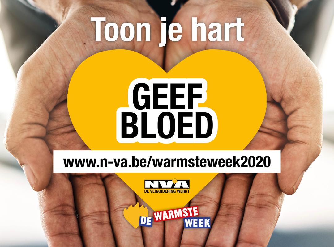N-VA Genk doet mee aan de Warmste Week